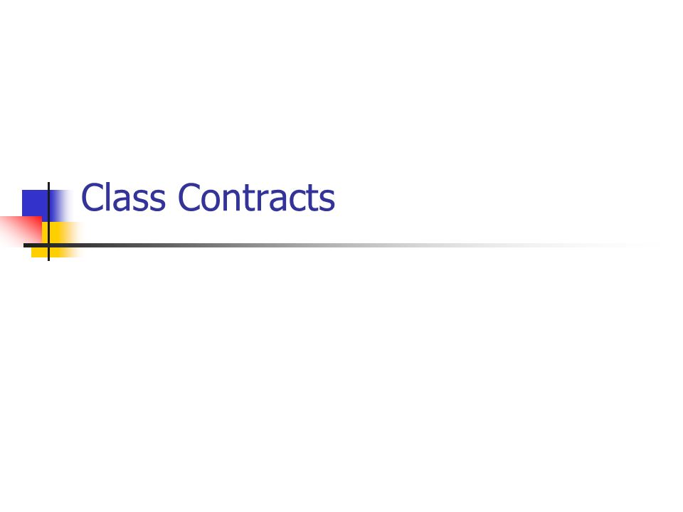 Class Contracts