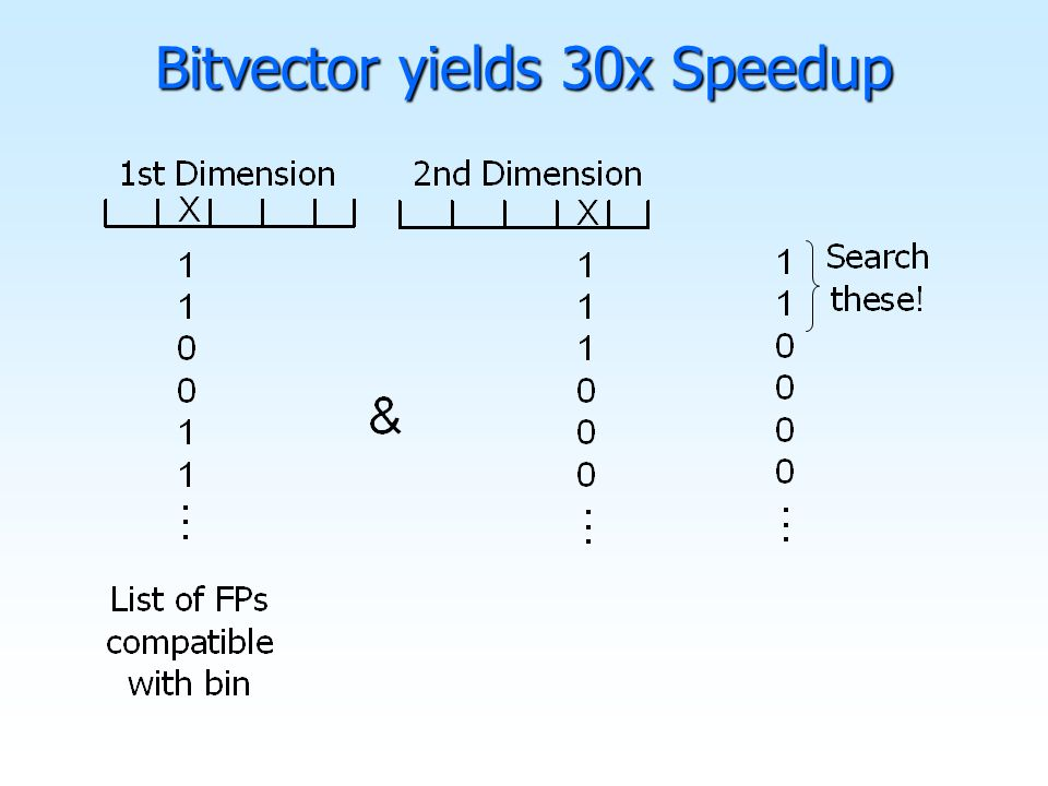 Bitvector yields 30x Speedup