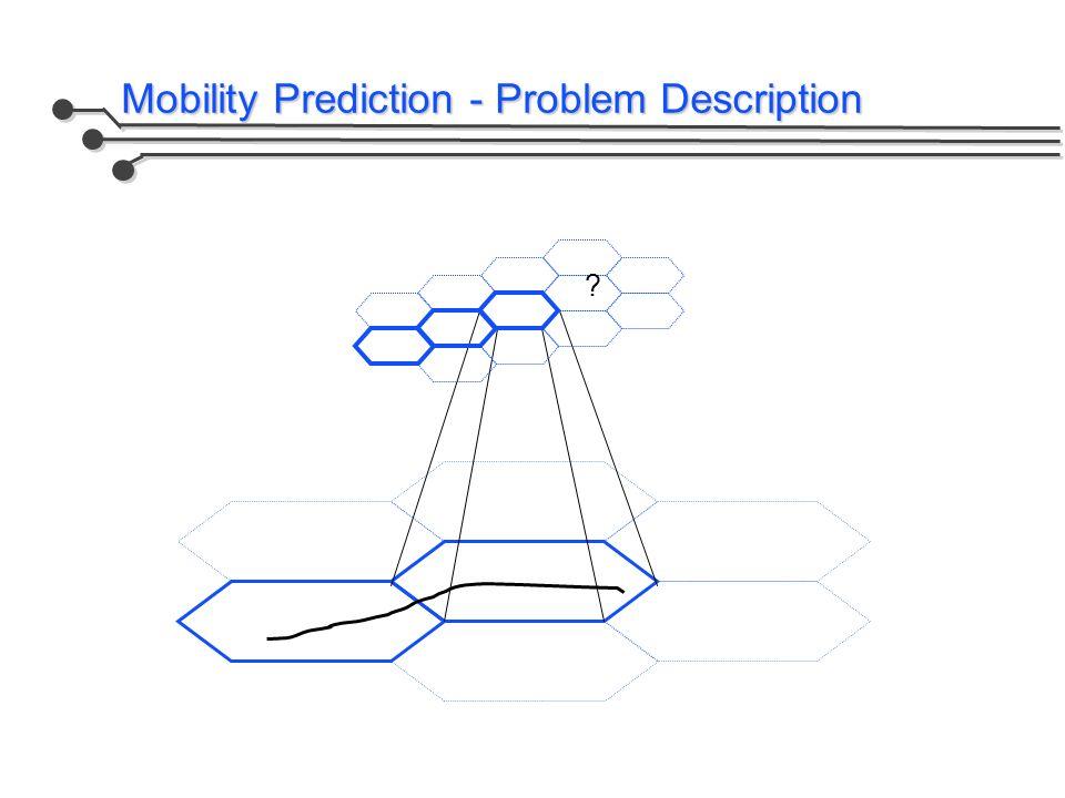 Mobility Prediction - Problem Description
