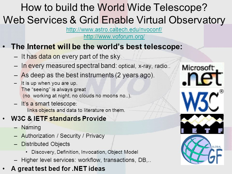 How to build the World Wide Telescope.