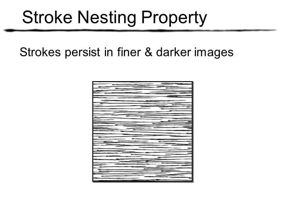 Strokes persist in finer & darker images