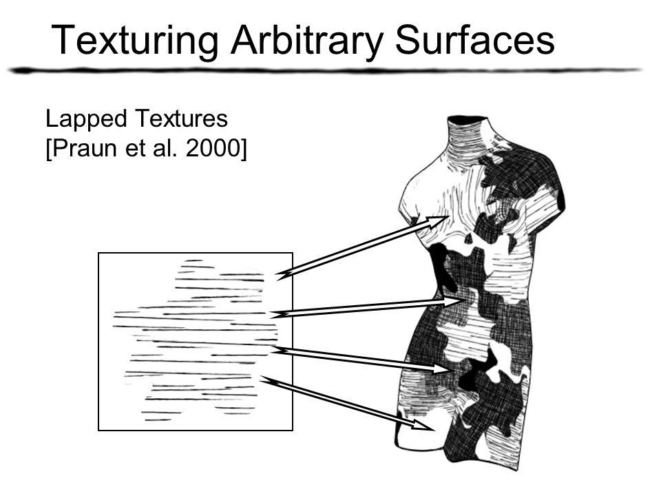 Texturing Arbitrary Surfaces Lapped Textures [Praun et al. 2000]