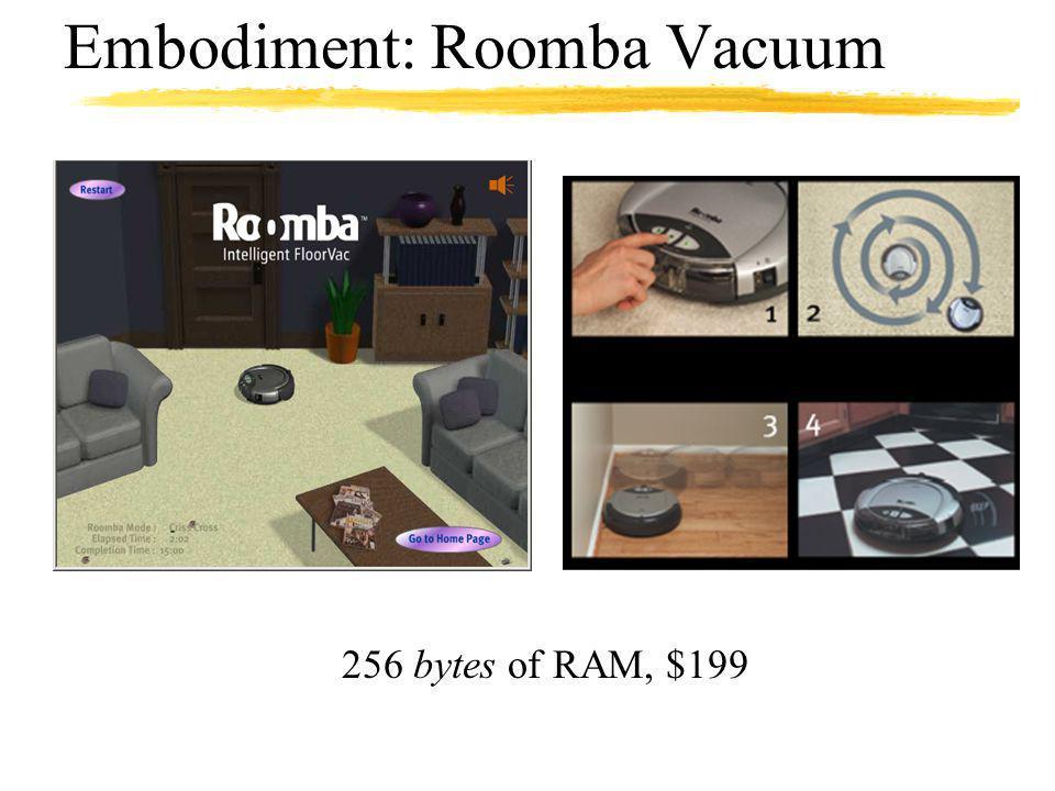 Embodiment: Roomba Vacuum 256 bytes of RAM, $199