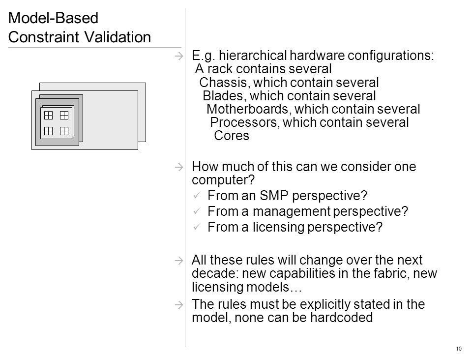 10 Model-Based Constraint Validation E.g.
