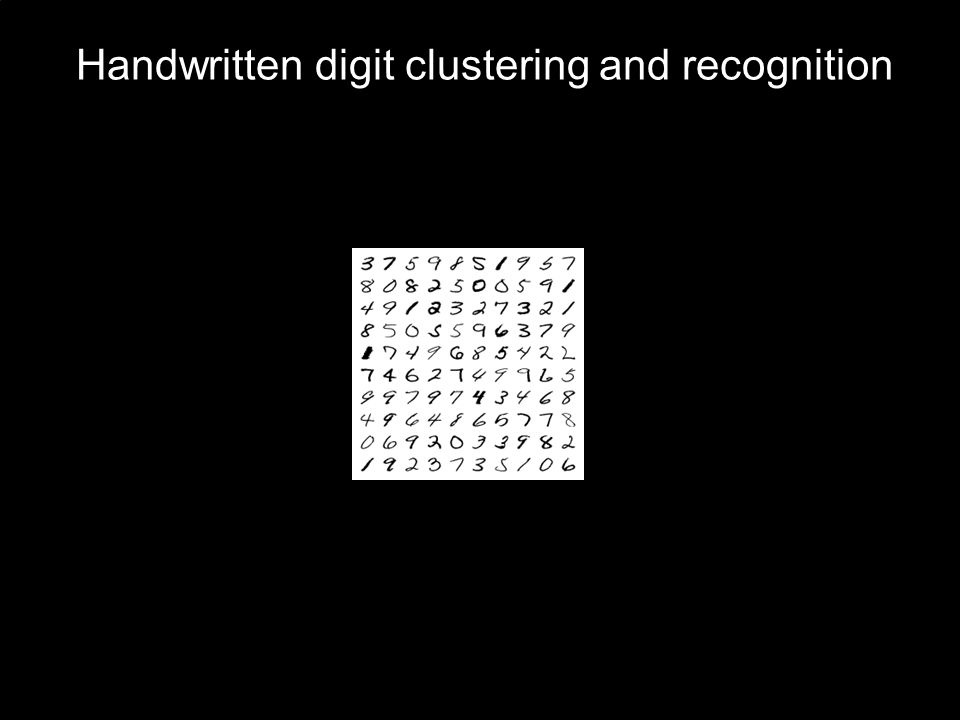 Handwritten digit clustering and recognition