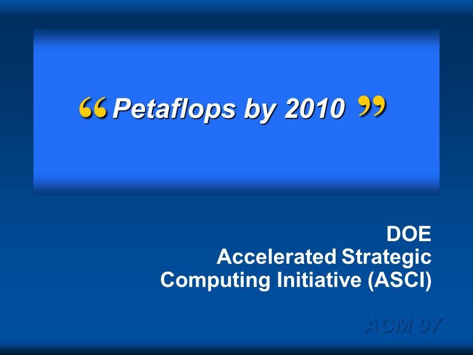 ACM 97 Bell Prize winners 1987-1997 Speedup: 2000X Moores law: 100X Spend more: 2X ECL CMOS: 10X 878991939597 Teraflops 100 Gigaflops 10 Gigaflops Gig