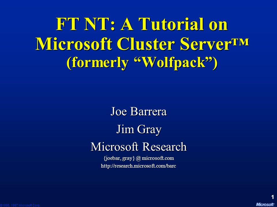 ©1996, 1997 Microsoft Corp.111 Research Topics.