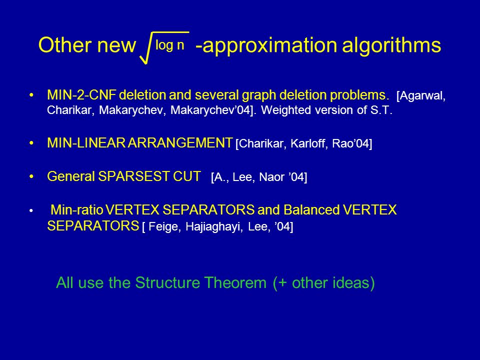 Other new -approximation algorithms MIN-2-CNF deletion and several graph deletion problems.