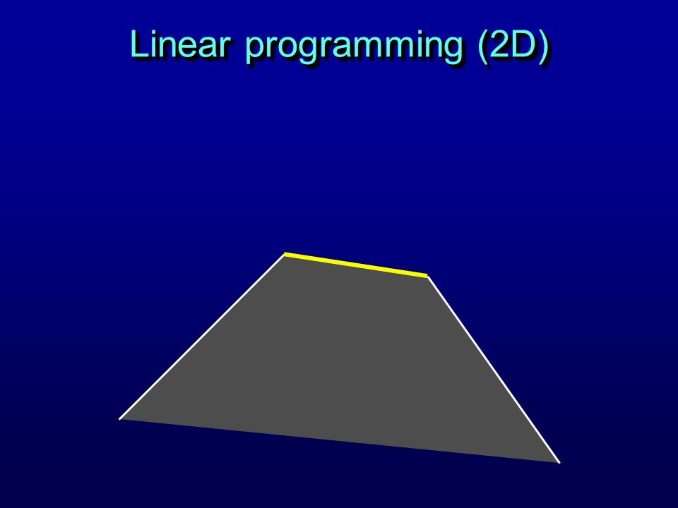 Linear programming (2D)