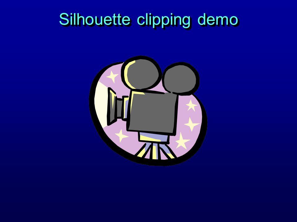Silhouette clipping demo