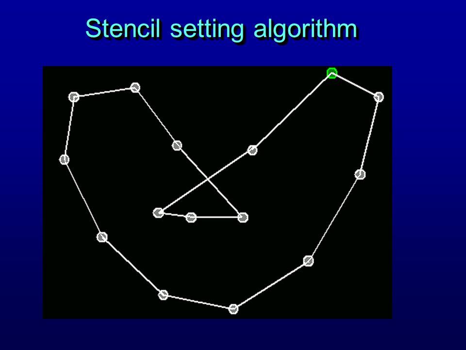 Stencil setting algorithm