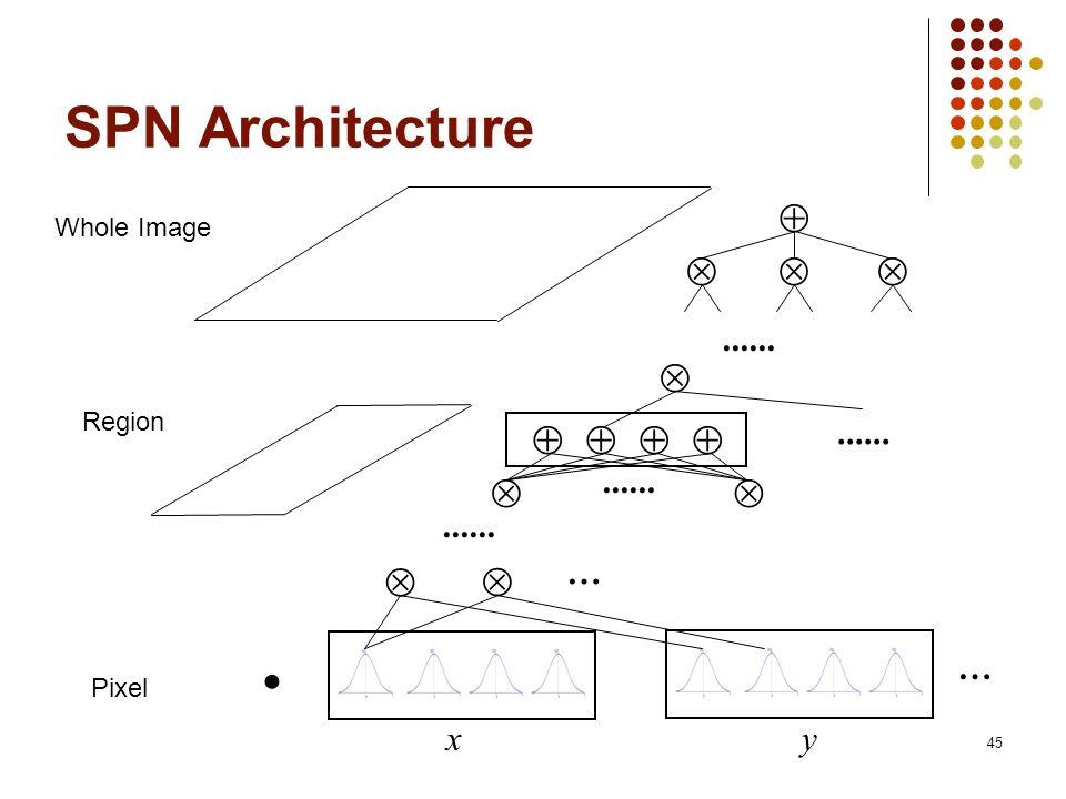 45 SPN Architecture Whole Image Region Pixel...... … x............ … y