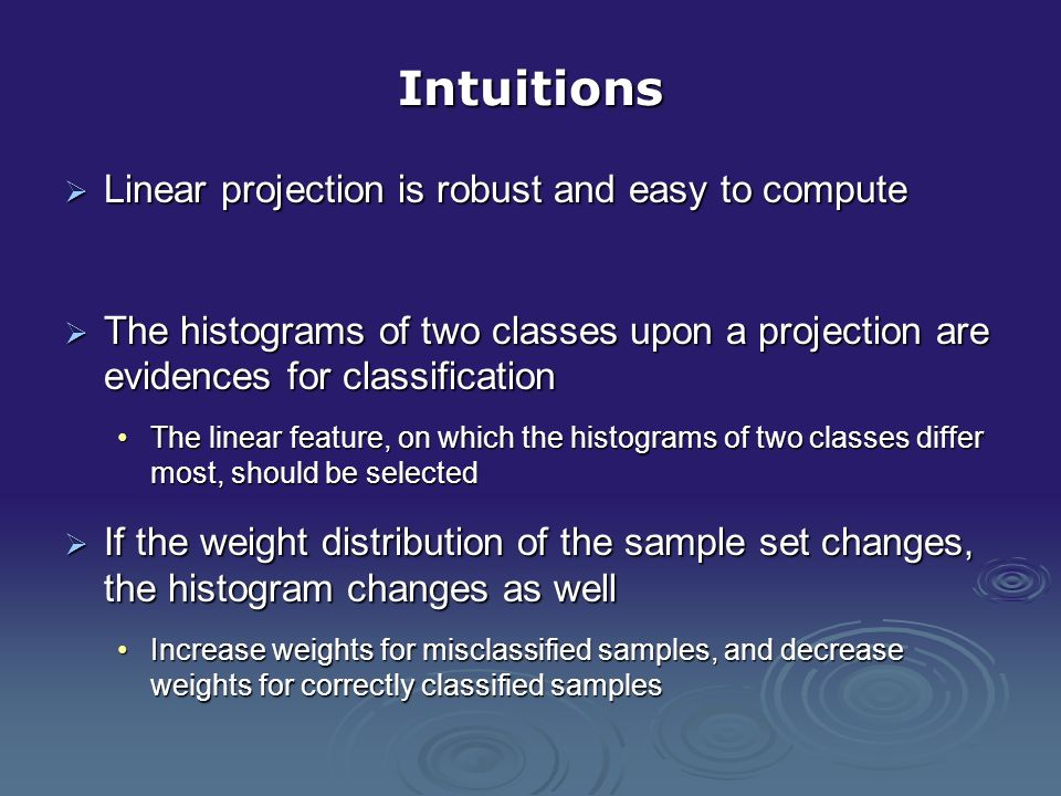 Linear projections and histograms