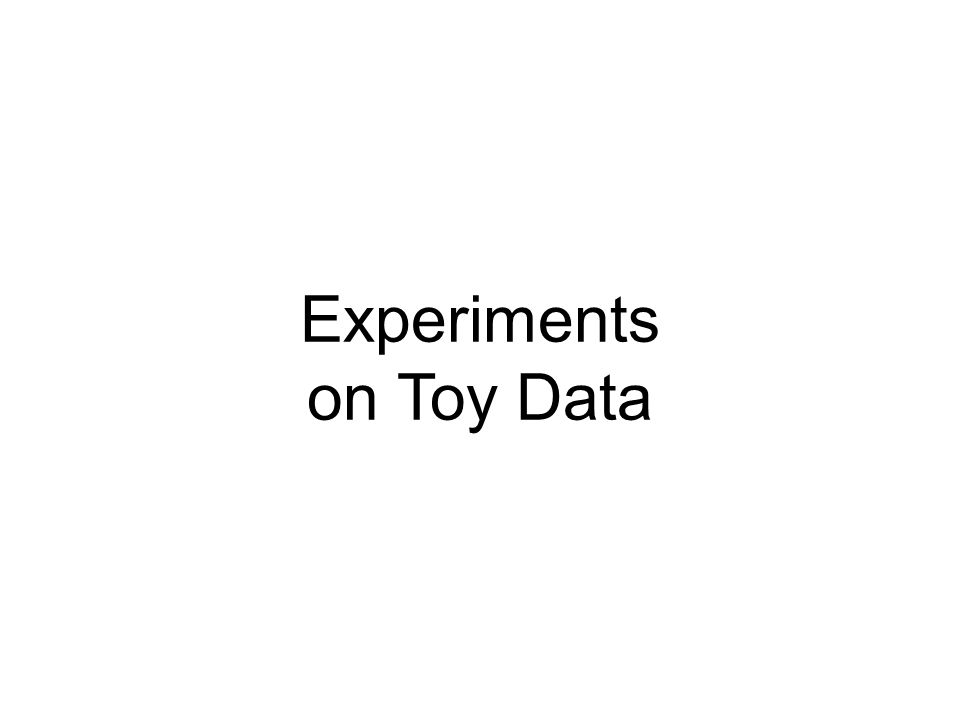Experiments on Toy Data