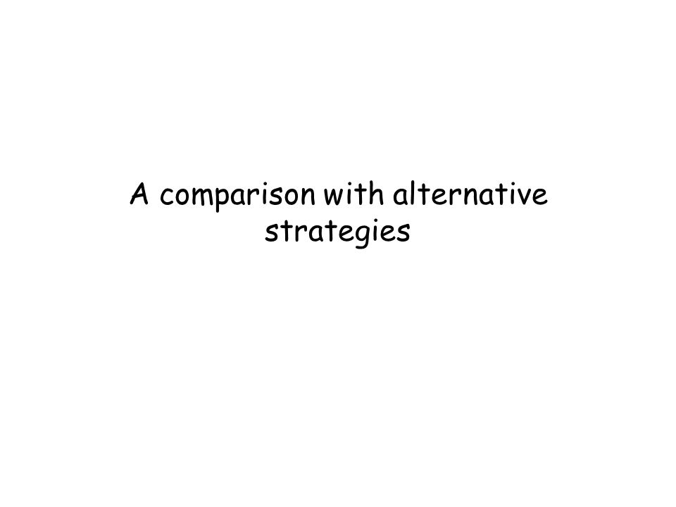 A comparison with alternative strategies
