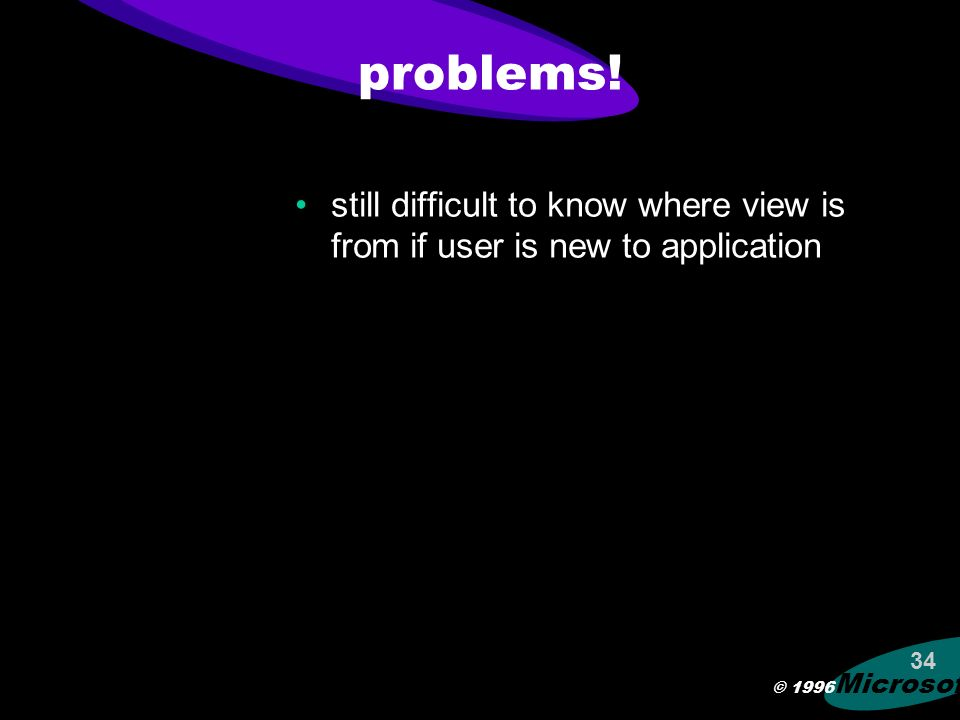 © 1996 Microsoft 33 view changes give feedback during change