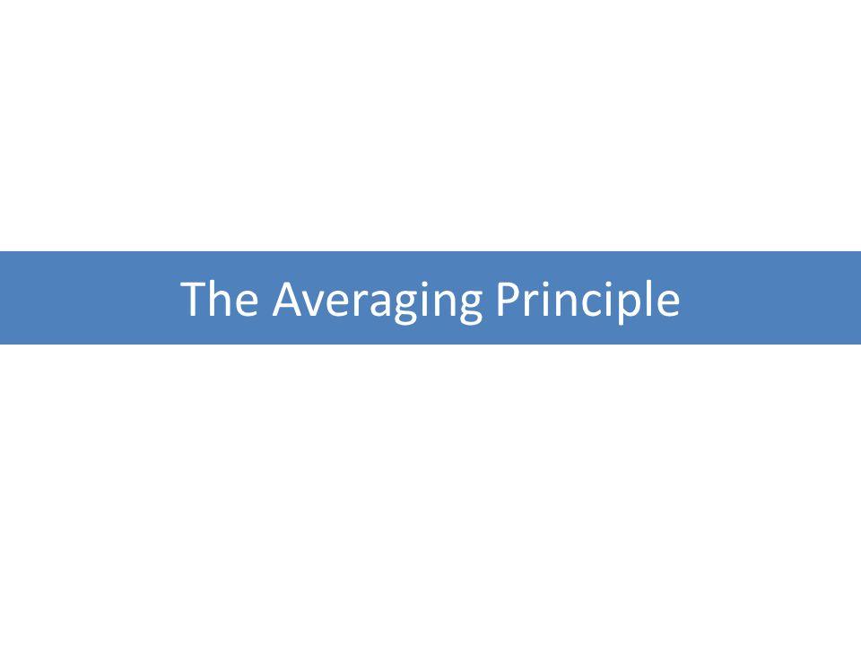 The Averaging Principle
