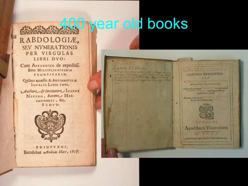 400 year old books