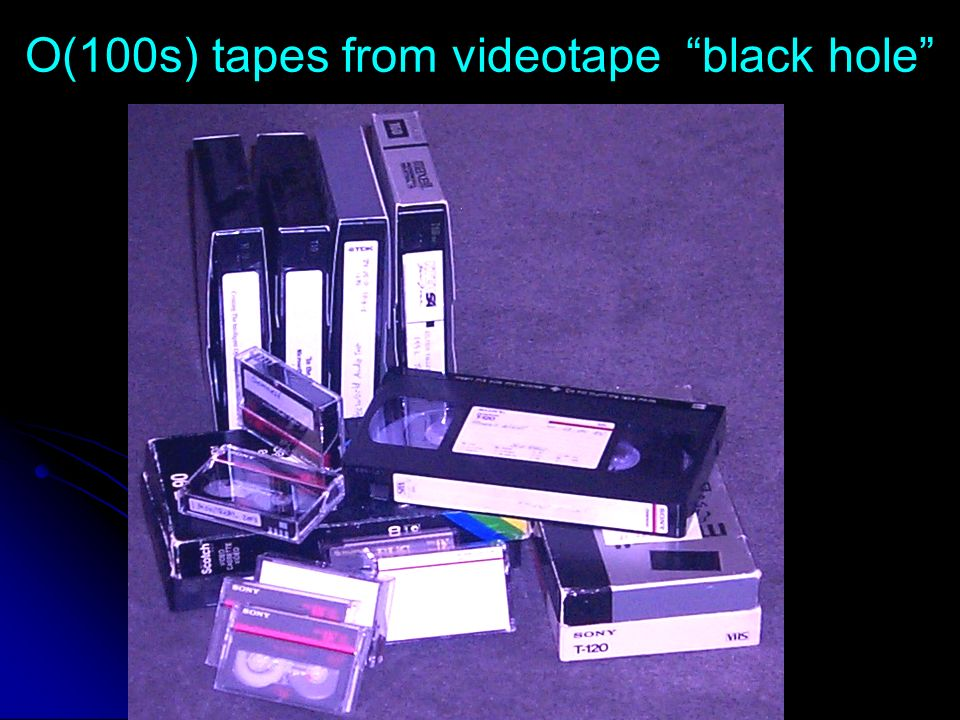 O(100s) tapes from videotape black hole