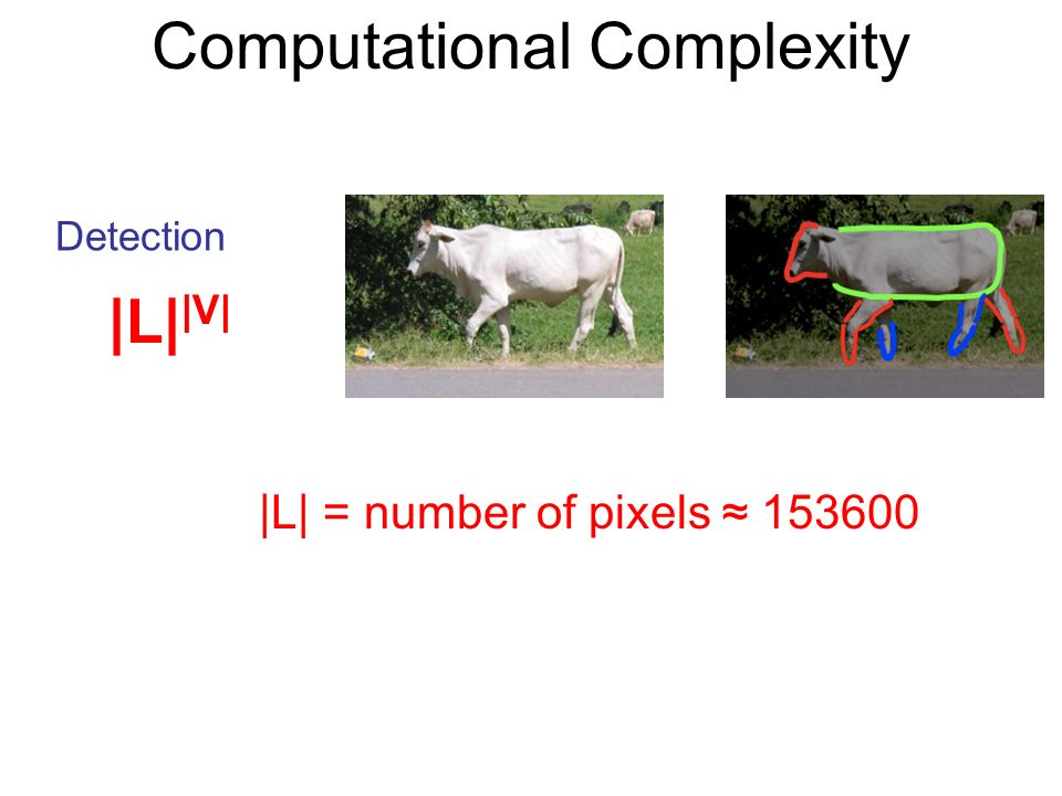 Computational Complexity |L| = number of pixels Detection |L| |V|