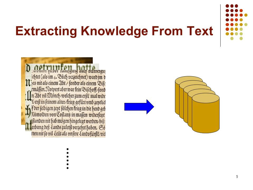 5 Extracting Knowledge From Text ……