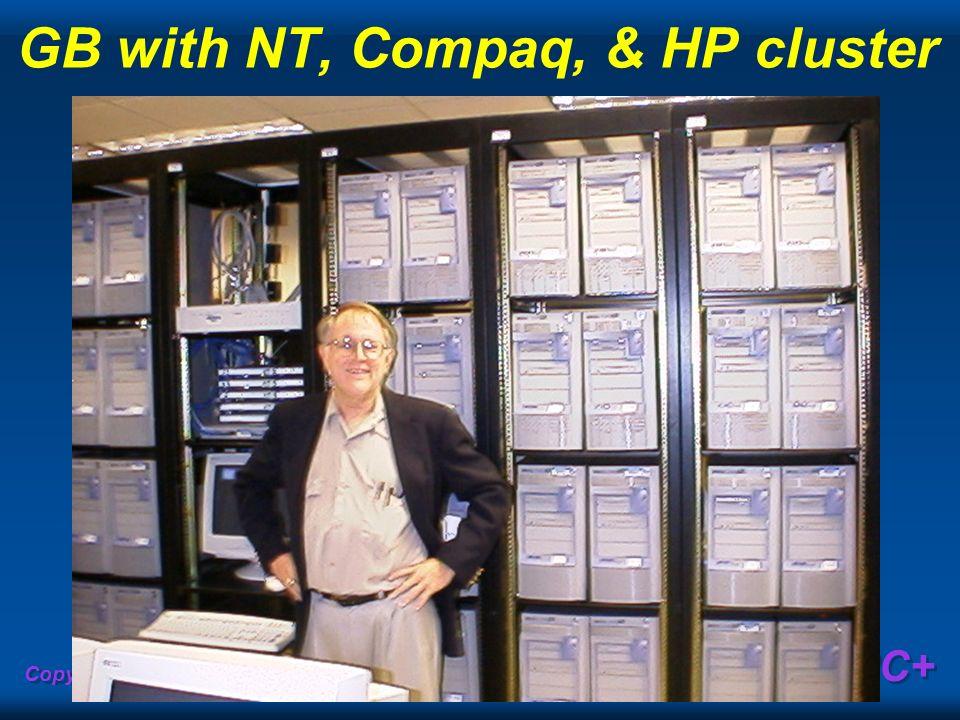 Copyright Gordon Bell & Jim Gray PC+ GB with NT, Compaq, & HP cluster