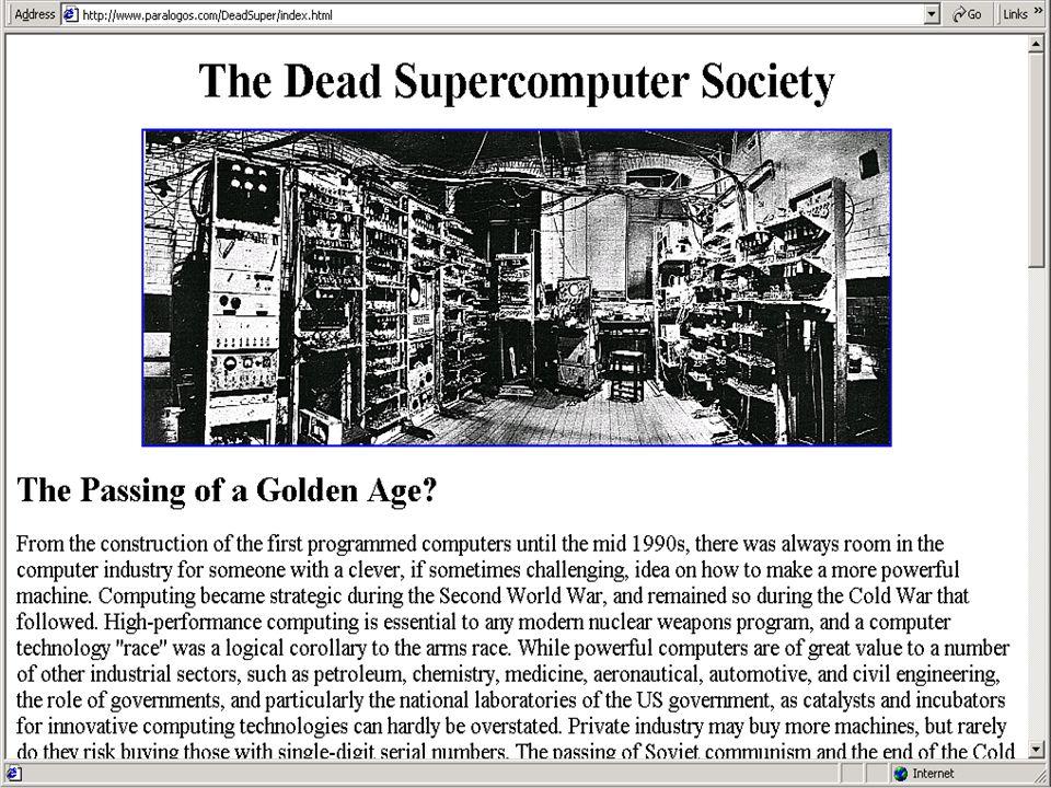 Copyright Gordon Bell & Jim Gray PC+ Dead Supercomputer Society