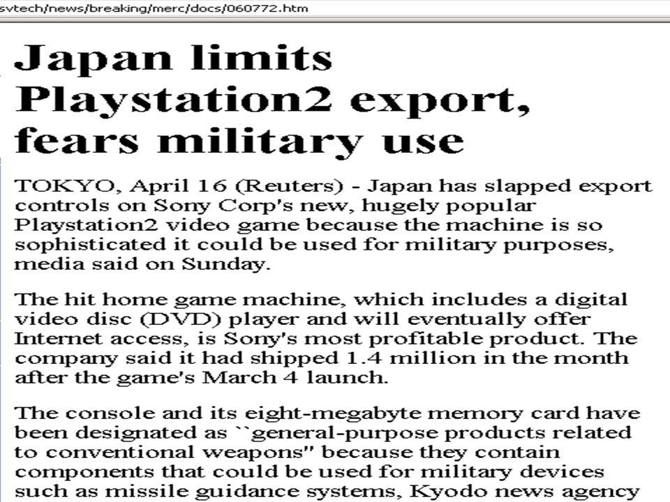 Copyright Gordon Bell & Jim Gray PC+ Sony Playstation export limiits