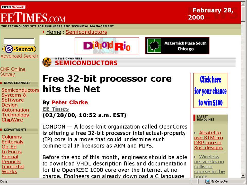 Copyright Gordon Bell & Jim Gray PC+ Free 32 bit processor core