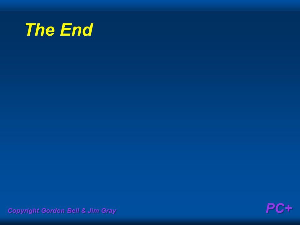 Copyright Gordon Bell & Jim Gray PC+ The End