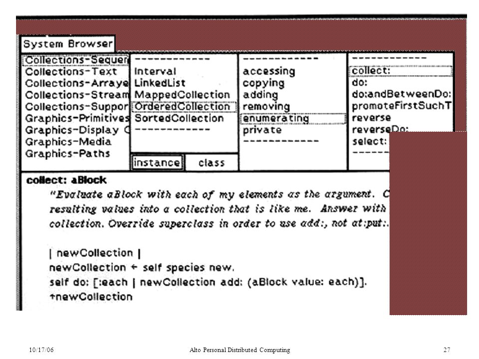 10/17/06Alto Personal Distributed Computing27