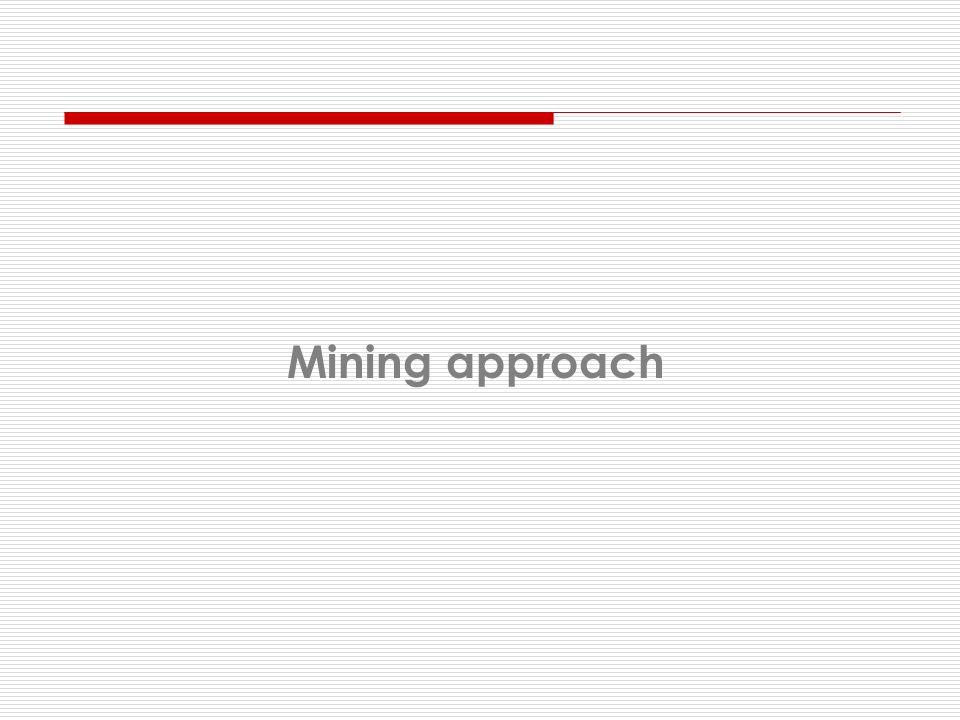 Mining approach