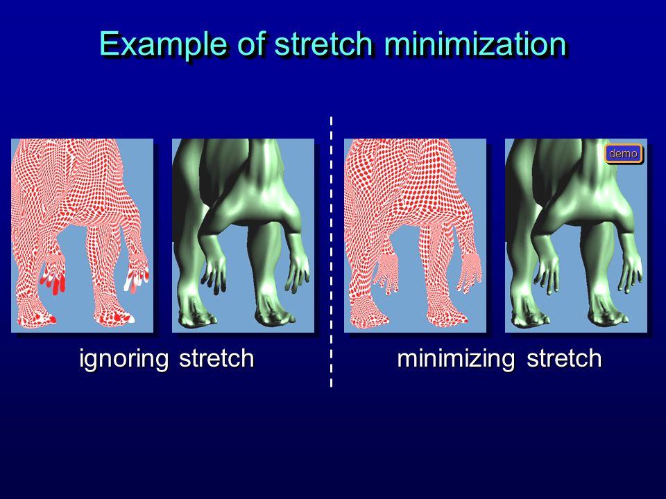 Example of stretch minimization ignoring stretch minimizing stretch demo