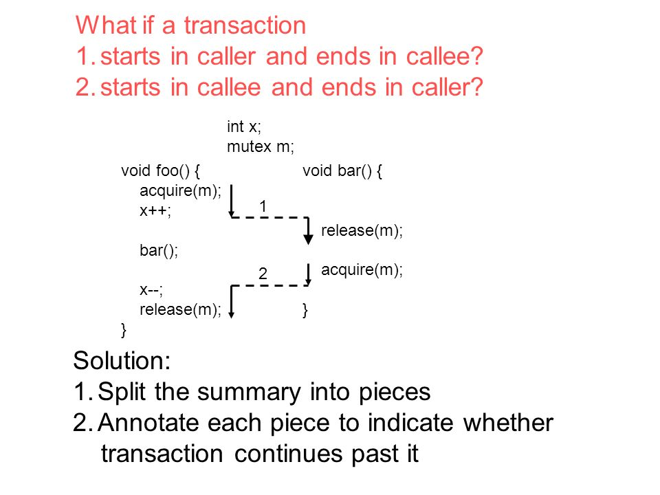 What if a transaction 1.starts in caller and ends in callee.