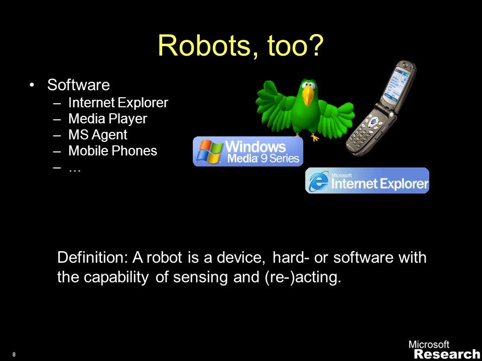 7 Links European Robotics Network (EURON) European Robotics Platform (EUROP) IEEE RAS Technical Commitee on Programming Environments in Robotics and Automation