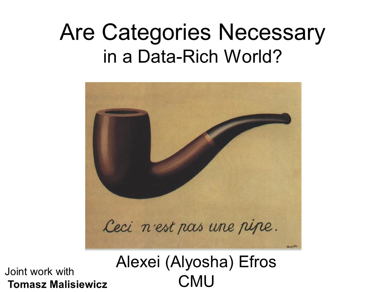Are Categories Necessary in a Data-Rich World.
