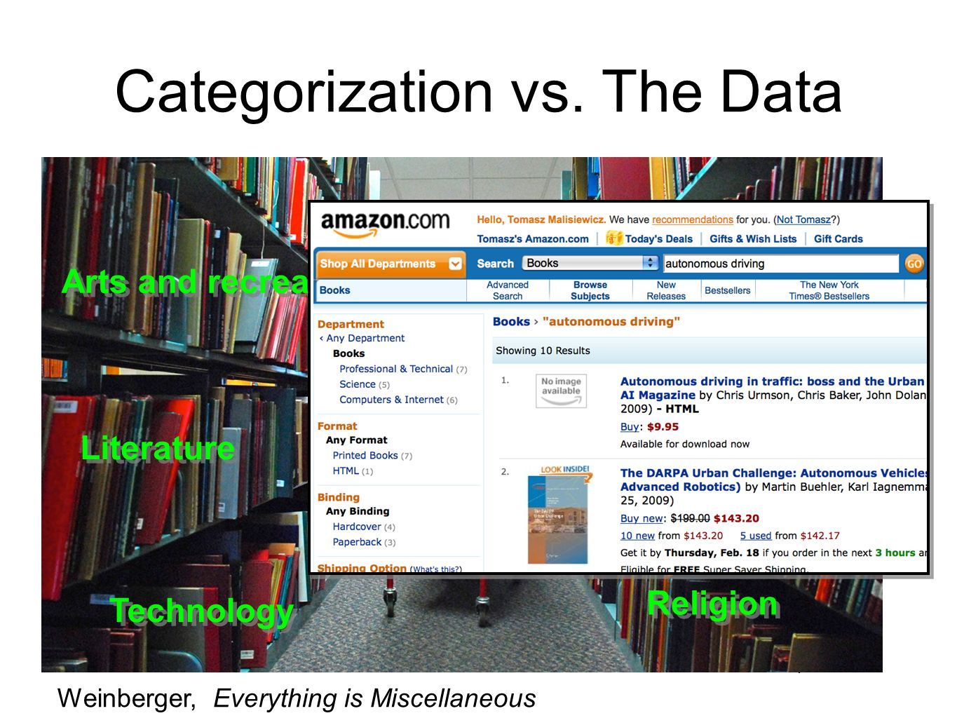 Categorization vs.