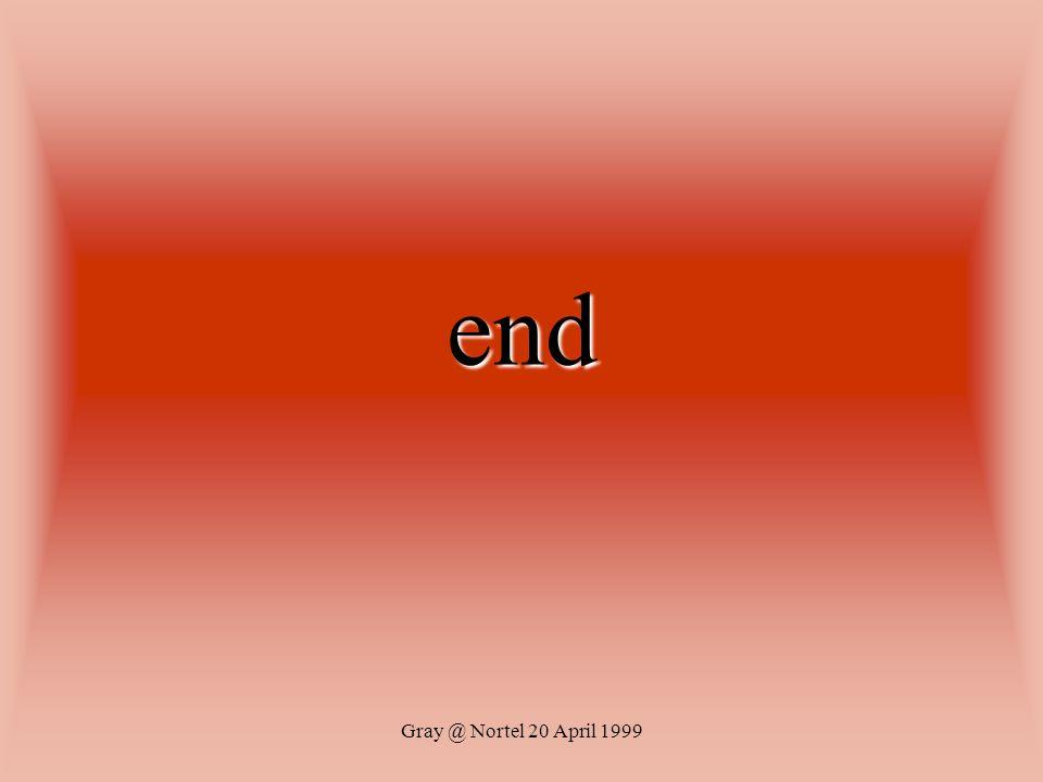 Gray @ Nortel 20 April 1999 end