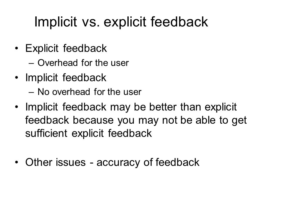 Implicit vs.