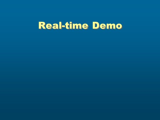 Real-time Demo