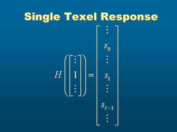 Single Texel Response