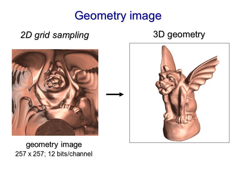 Geometry image geometry image 257 x 257; 12 bits/channel 3D geometry 2D grid sampling