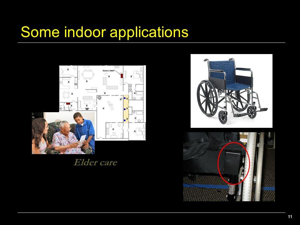 11 Some indoor applications Elder care