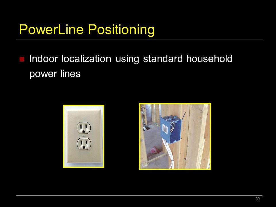 39 PowerLine Positioning Indoor localization using standard household power lines