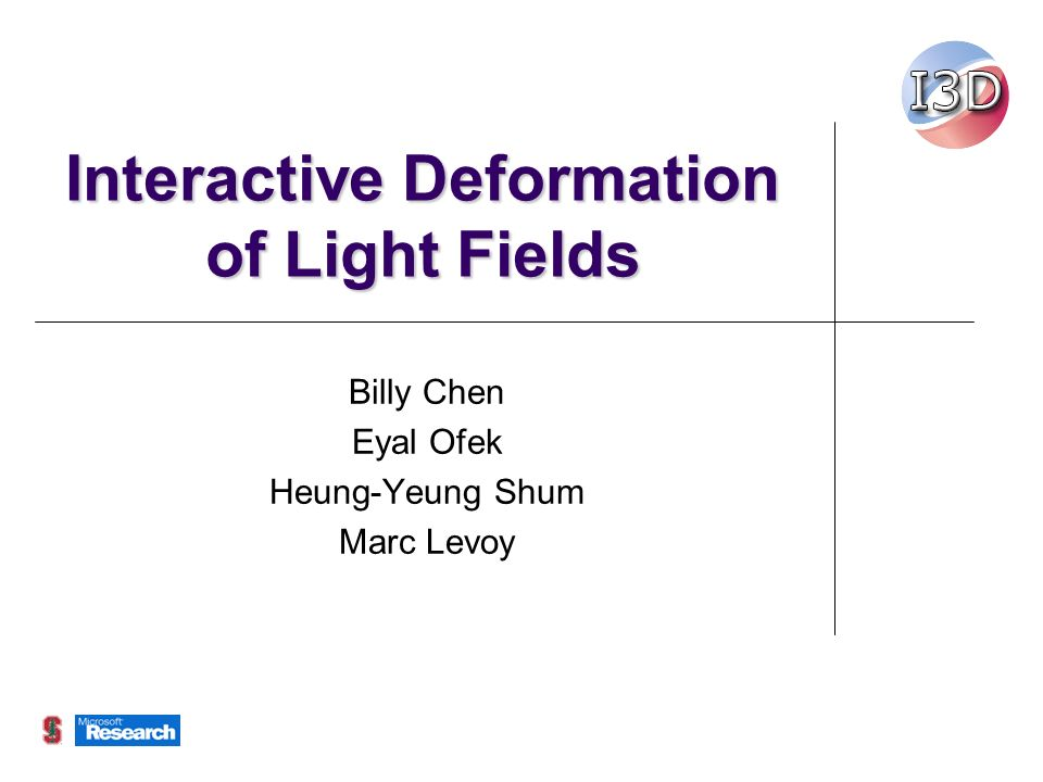 Sub-light field example