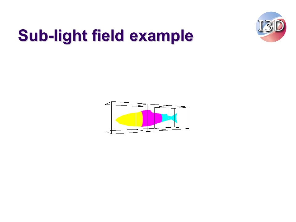 Sub-light field example