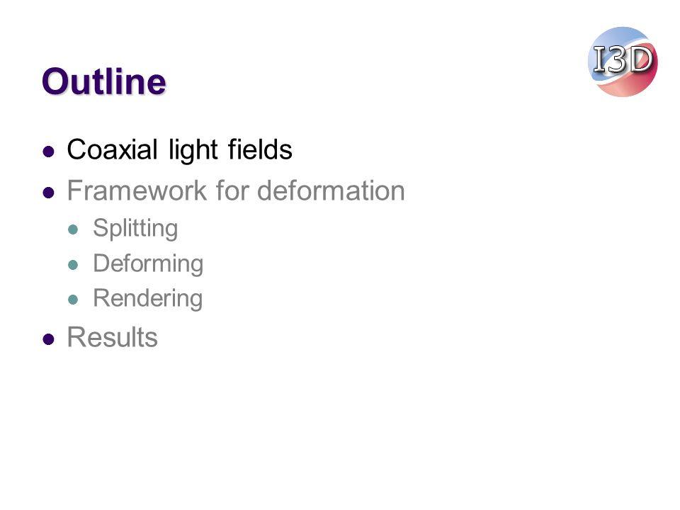 Coaxial light fields … …