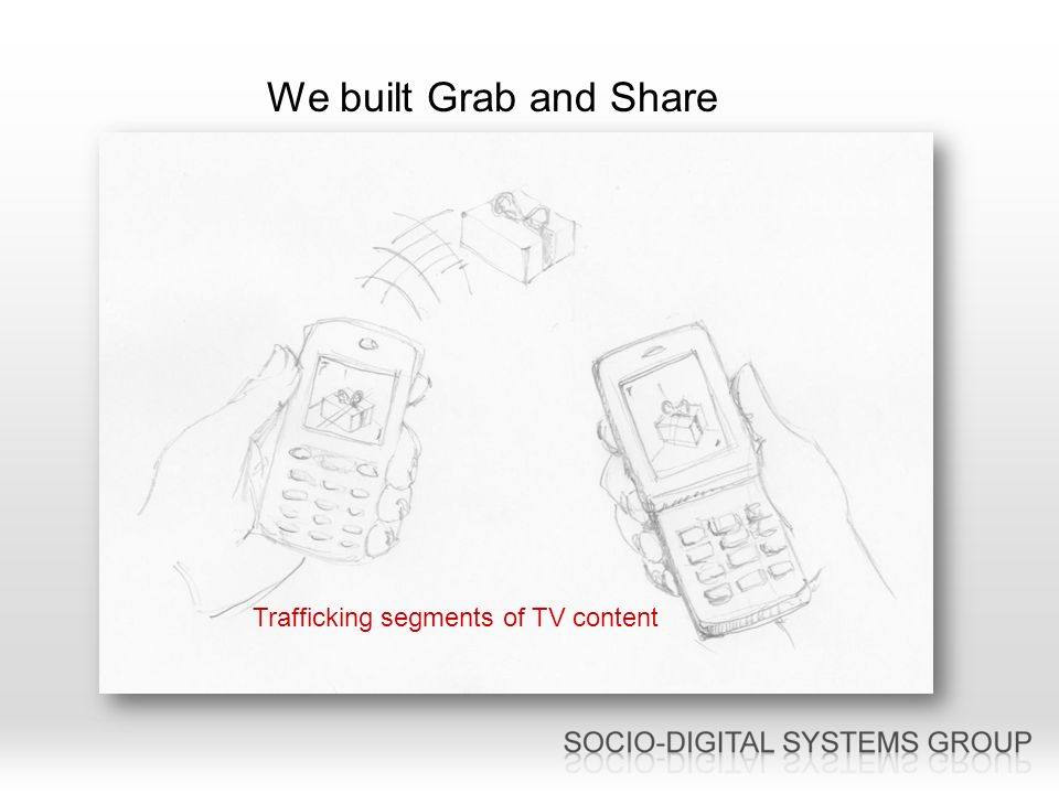 We built Grab and Share Trafficking segments of TV content