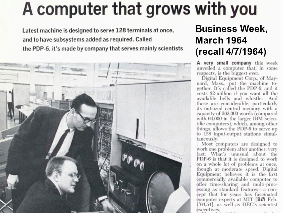 Business Week Business Week, March 1964 (recall 4/7/1964)