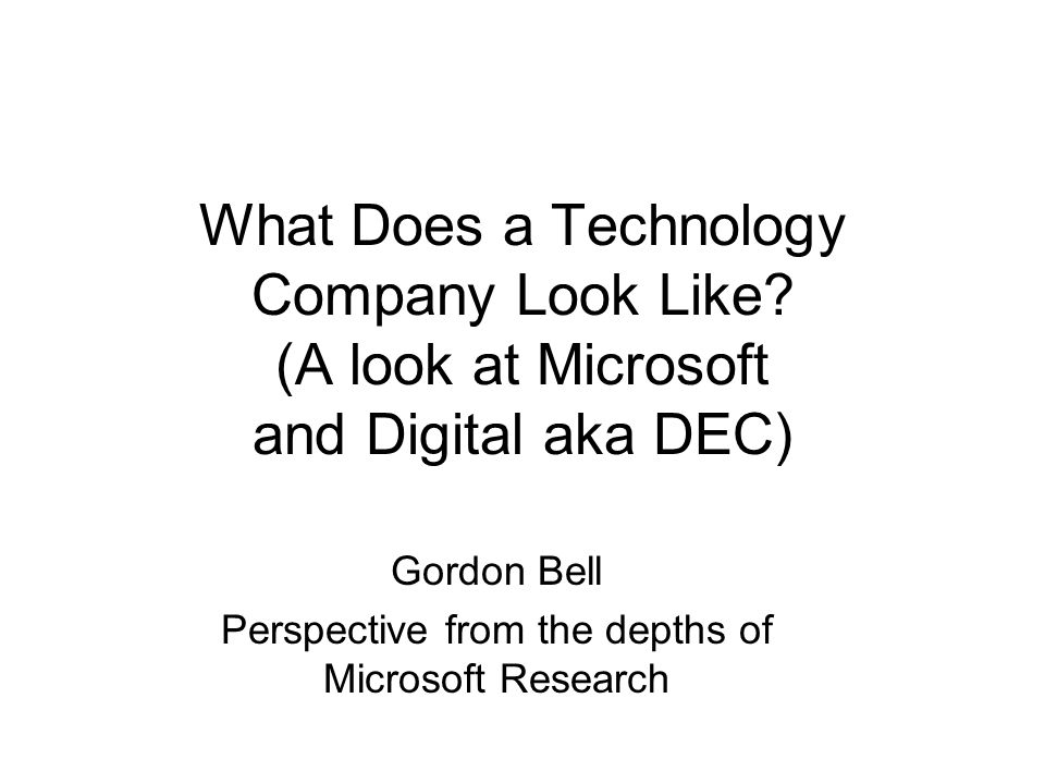 What Does a Technology Company Look Like.